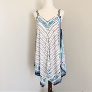 Maurices NEW | striped tank with patterned borders